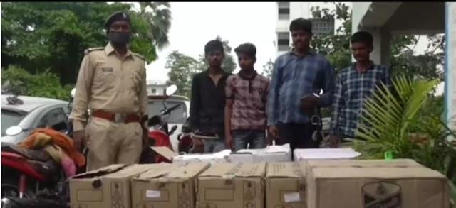 मुजफ्फरपुर में पुलिस ने भारी मात्रा में शराब के साथ 4 को किया गिरफ्तार