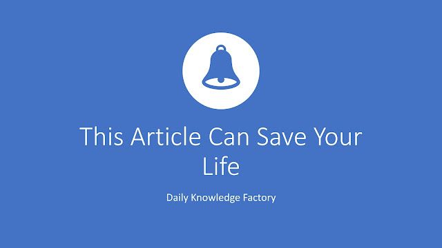 How reading this article can save this life.