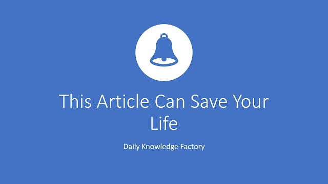 This Article Can Save Your Life