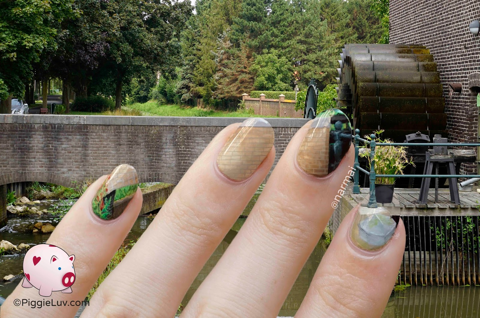 PiggieLuv: Another extreme camouflage nail art