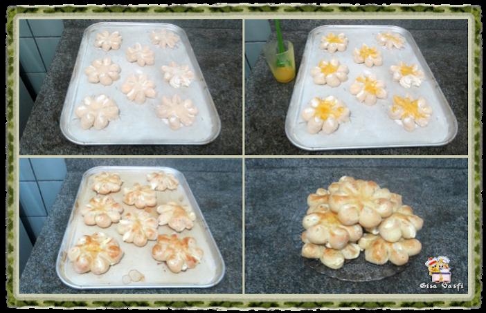 Pão recheado com queijo cremoso 5