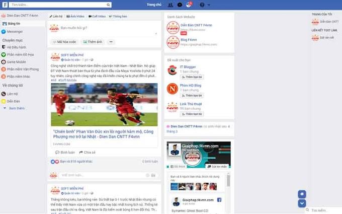 Chia sẻ giao diện Blogspot giống Facebook chuẩn seo và load cực nhanh 2019