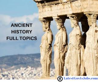 प्राचीन इतिहास /ANCIENT HISTORY -Important Questions (One Liner)