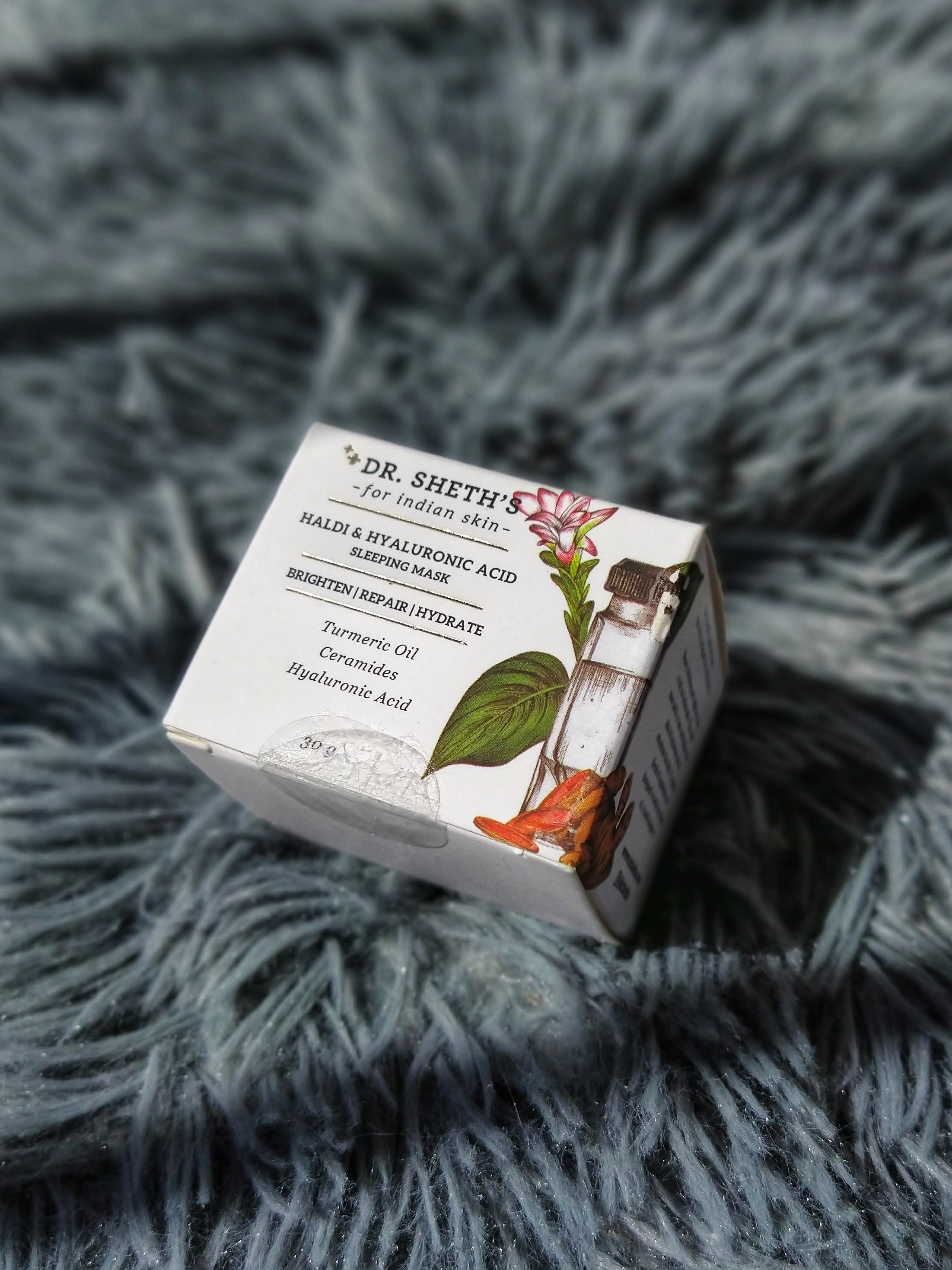 packaging of haldi sleeping mask review