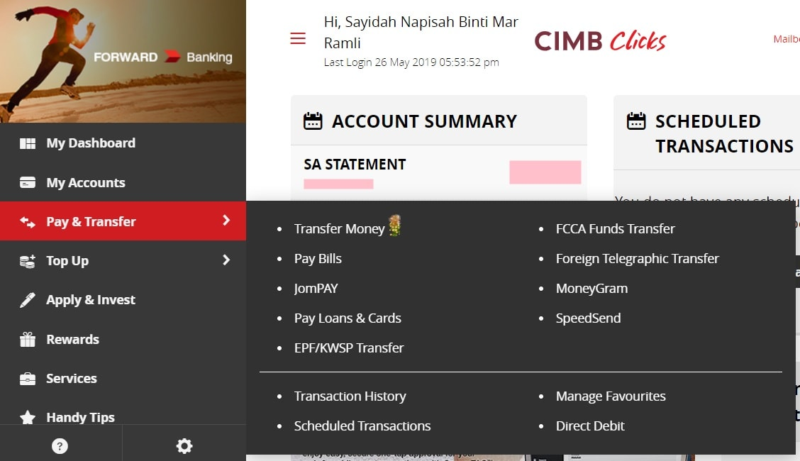 cara daftar cimb clicks 2019