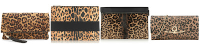 One of these leopard print clutches is from Sole Society for $40 and the other three are for hundreds and even thousands of dollars. Can you guess which one is the more affordable clutch? Click the links below to see if you are correct!