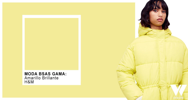Amarillo color tendencia otoño invierno 2021 Pantone