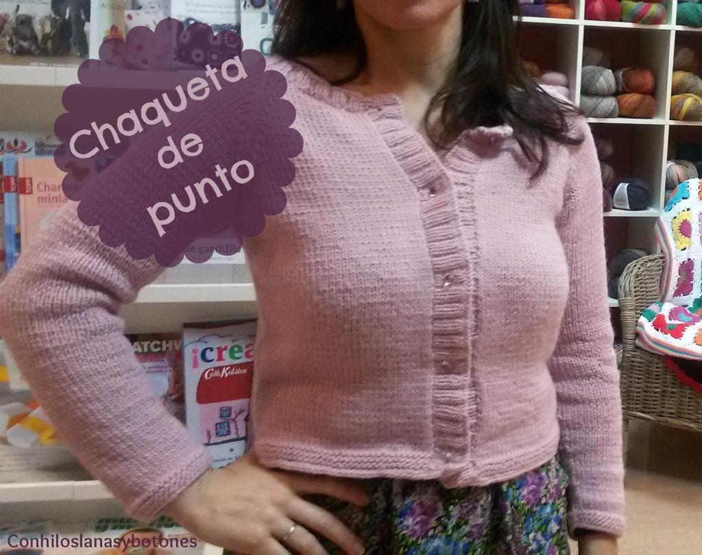 Conhiloslanasybotones: chaqueta de punto para mujer