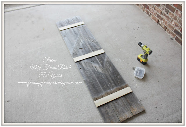 DIY Planked Sign