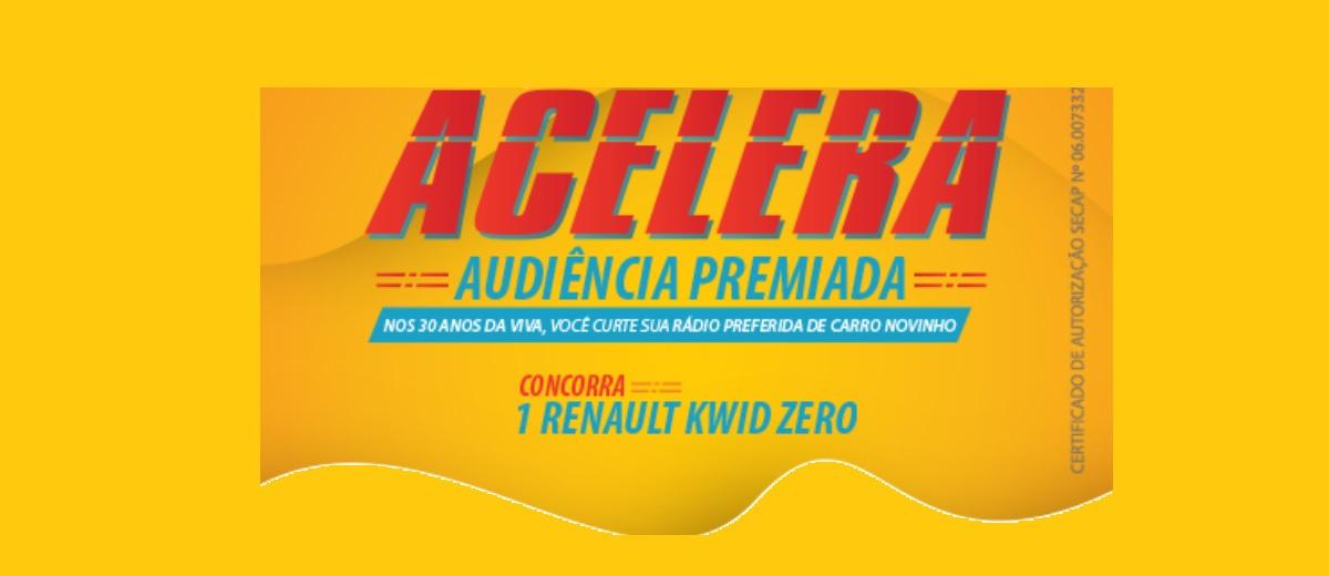 Cadastrar Promoção Rádio Viva Carro 0KM 30 Anos - Acelera Audiência Premiada