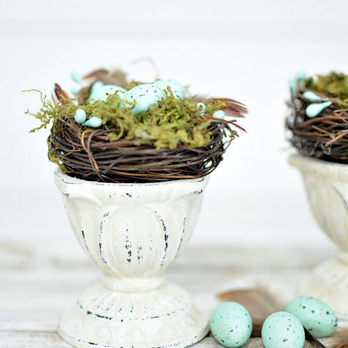 Upcycled Farmhouse Spring Nest Decor