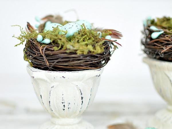 Upcycled Farmhouse Spring Nest Decor On A Budget