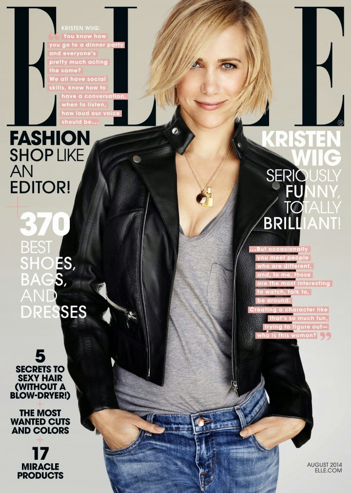 Kristen Wiig Covers Elle Magazine (August 2014)