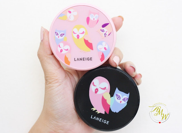 a photo of Laneige x Lucky Chouette BB Cushion Whitening and Pore Control in 21 Beige