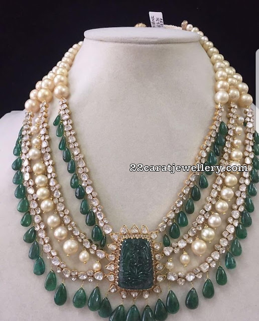 Emerald Drops South Sea Pearls Pachi Set
