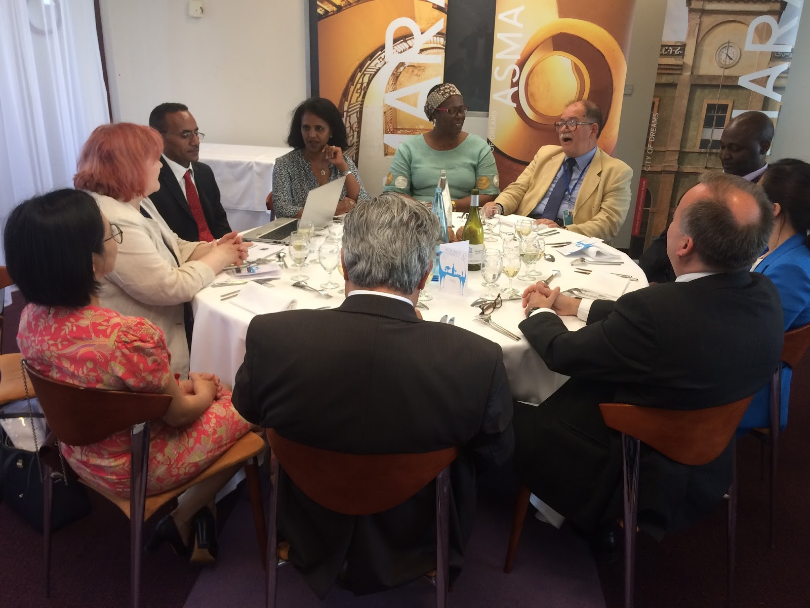 Eritrean Ambassador Hanna Simon held reception at