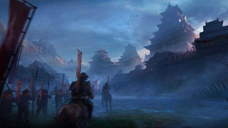 Samurai Army Japanese Castle 4k Wallpaper 4950
