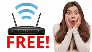 Free Wi-Fi router,
