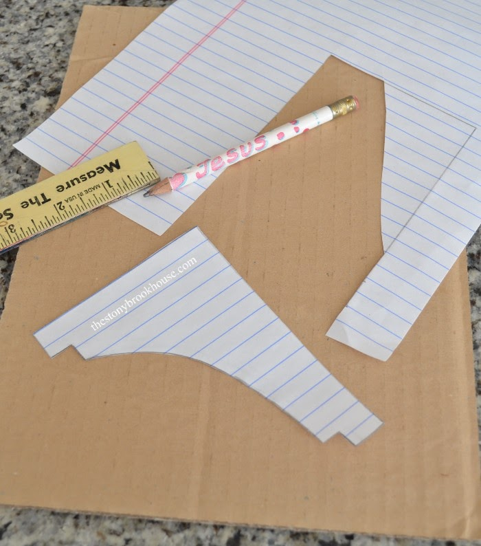 Drawing Corbel pattern for template