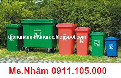 thung rac cong cong 120l, 240l, 660l