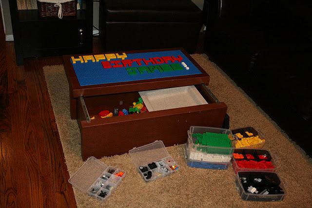 Diy Lego Table And Organization