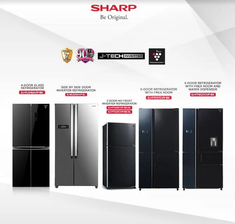 Sharp J-Tech Inverter Refrigerator and Air Conditioner can keep you cool and comfortable