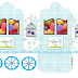 Birds in Light Blue: Princess Carriage Shaped Free Printable Boxes.