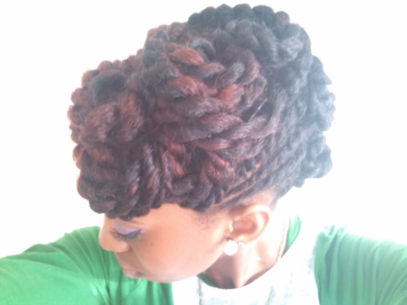 Don't Get It Twisted- Natural Hair Updo