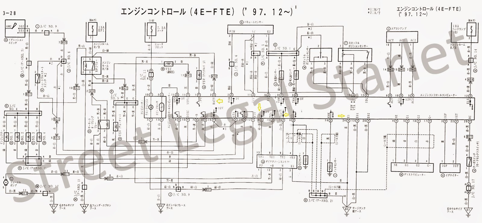 Toyota Carina Electrical Wiring Diagram Manual 1982 98598