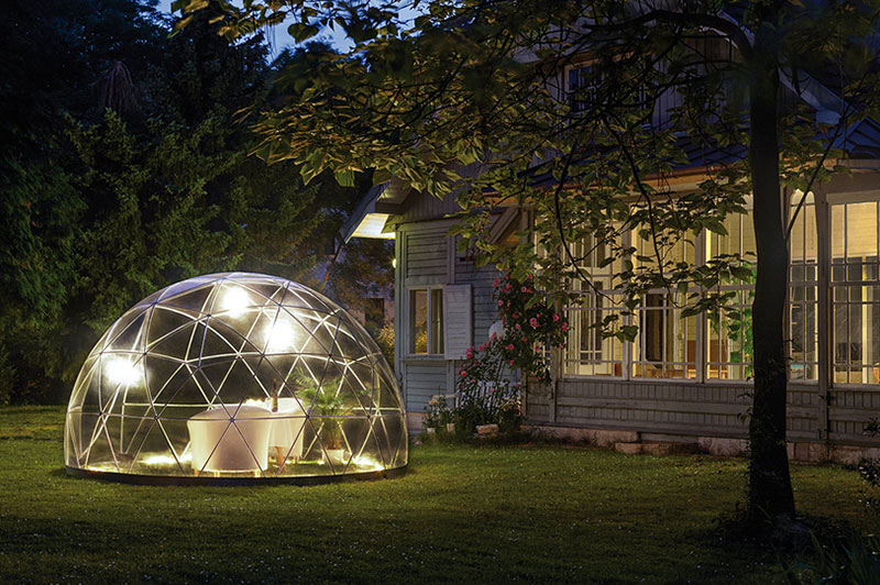 2348622a This stylish dome by Berlin-based Garden Igloo features seasonal covers and  recyclable PVC plastic tubing that is easy to assemble.