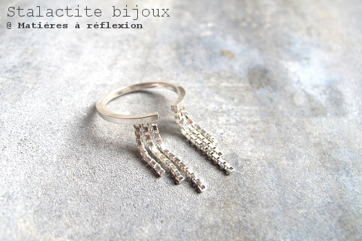 bijoux Stalactite bague chaine Cascade argent