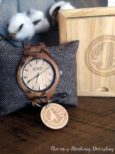 JORD Wood Watch giveaway at Chic on a Shoestring Decorating