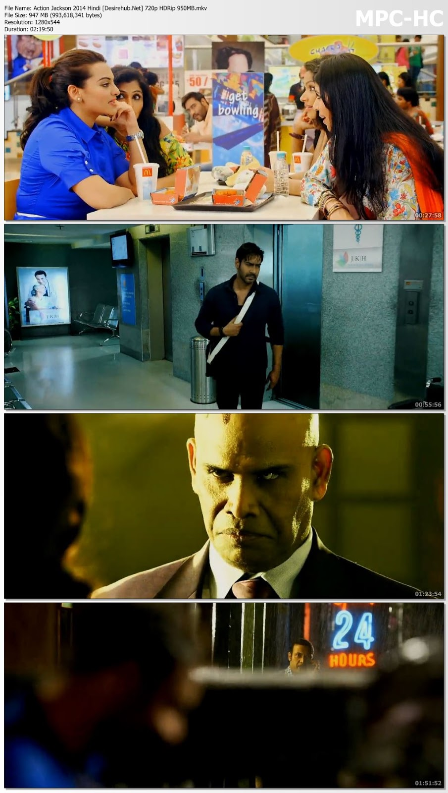 Action Jackson 2014 Hindi 720p HDRip 950MB Desirehub