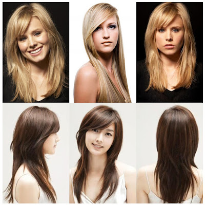 Side Swept Bangs With Layers Haircuts