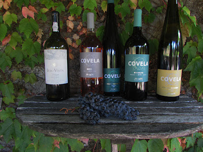 garrafas de vinho da Quinta de Covela