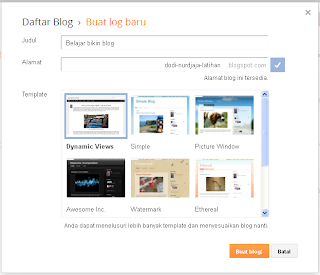 Akun Blogger step 4