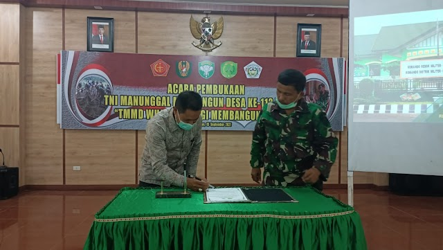 Kodim 0103/Aceh Utara Gelar Gladi Bersih Jelang Pembukaan TMMD ke-112