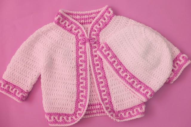 4- Crochet Imagen Gorrito conjunto con chaqueta a crochet y ganchillo por Majovel Crochet