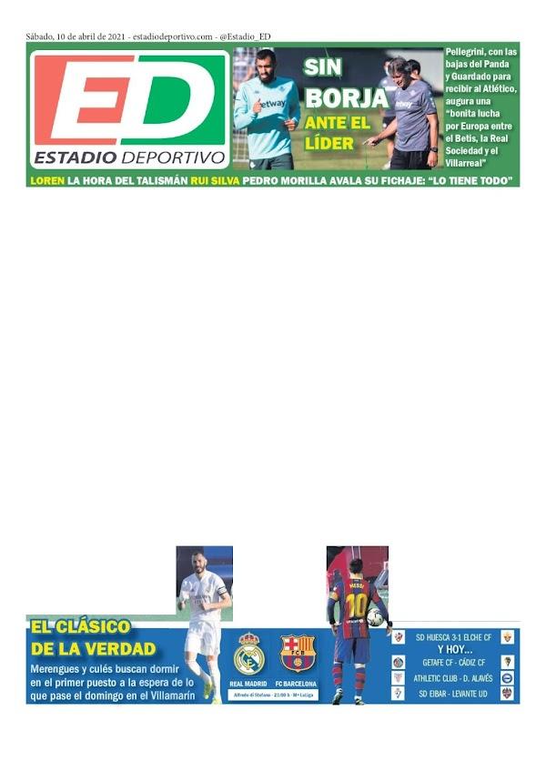 """Betis, Estadio Deportivo: """"Sin Borja ante el líder"""""""