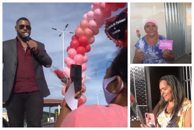 Igor Tenor faz homenagens as mães nas ruas dos Distritos e Povoados de Flores