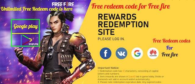free redeem code for free fire