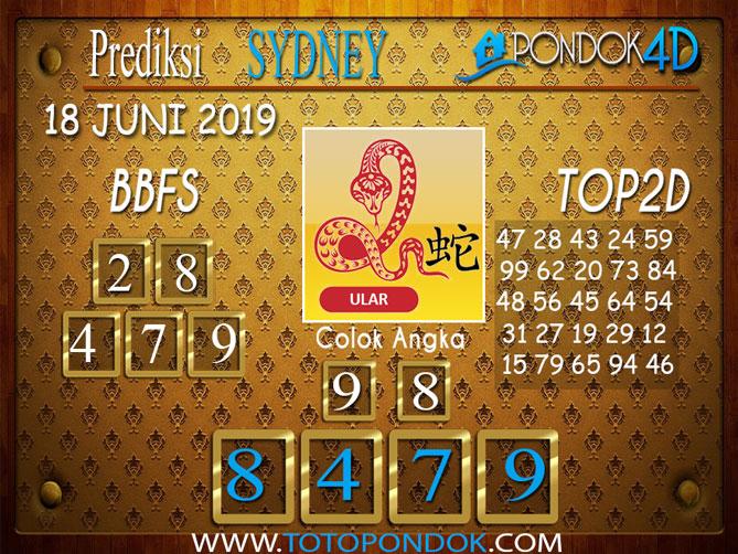 Prediksi Togel SYDNEY PONDOK4D 18 JUNI 2019
