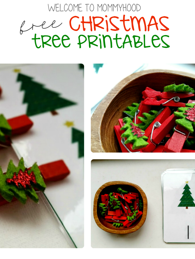 Christmas activities for kids, Christmas tree printables, free printables, montessori, #montessori, #ChristmasActivitiesForKids, fine motor activities, #finemotoractivities