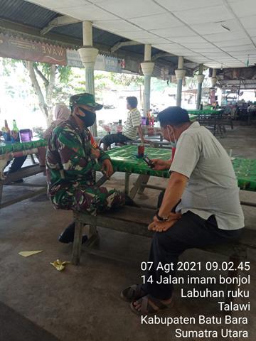 Dengan Cara Komsos Personel Jajaran Kodim 0208/Asahan Sampaikan Himbauan Cegah Covid-19 Kepada Warga Binaan