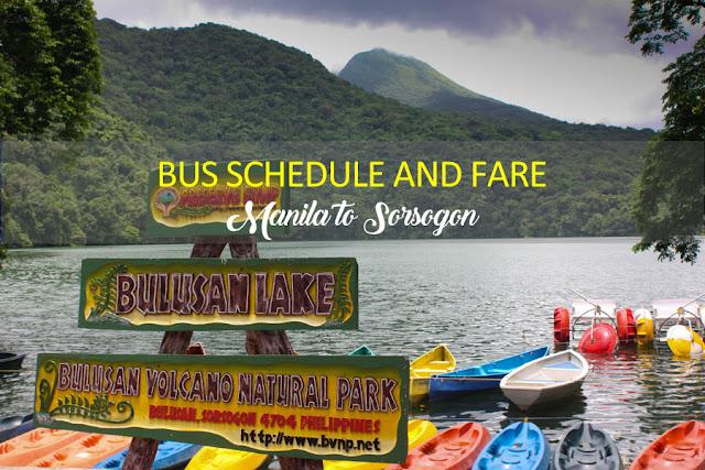 Bus Schedule and Fare Manila to Sorsogon