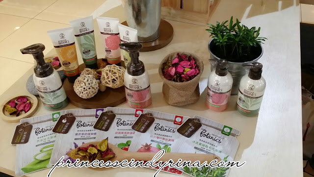 bottles of skincare products, sheet masks
