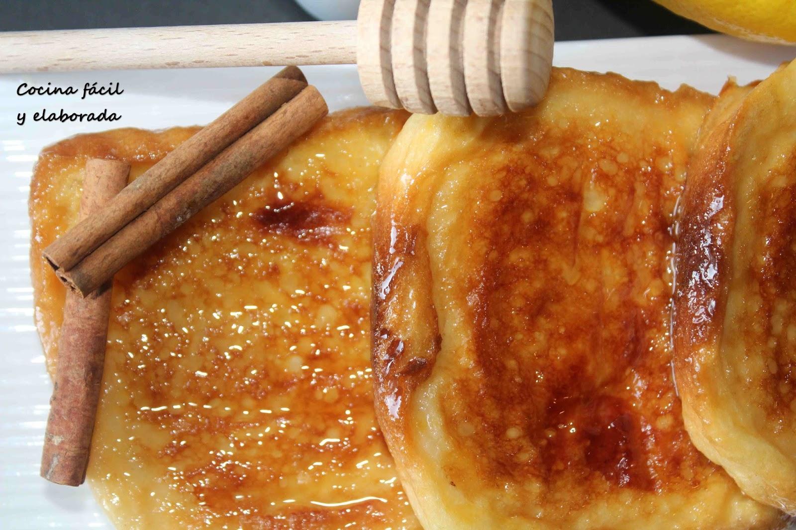 cocina facil y elaborada TORRIJAS DE MIEL AL HORNO