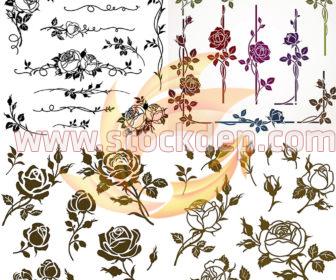 Mẫu vector hoa hồng