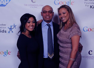 Kimberly Jackson With Father Reggie C And His Current Partner At Mr
