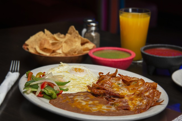 Chilaquiles with Red Chile Sauce